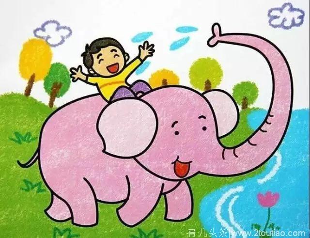 宝宝最爱的小猪佩奇填色画来啦 这些幼儿画画素材启发